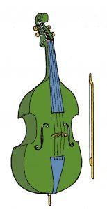 O MATERIAL E AS CORES : A baixorola será confeccionada em poliuretano e terá as cores da nossa bandeira. O arco é opcional, pois o instrumento pode ser tocado também no estilo pizzicato, apenas com os dedos.